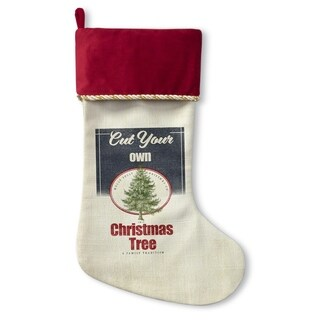 Kavka Designs Cut Your Own Tree Holiday Stocking