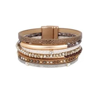 Handmade Saachi Tufan Wrap Bracelet (China) - Brown