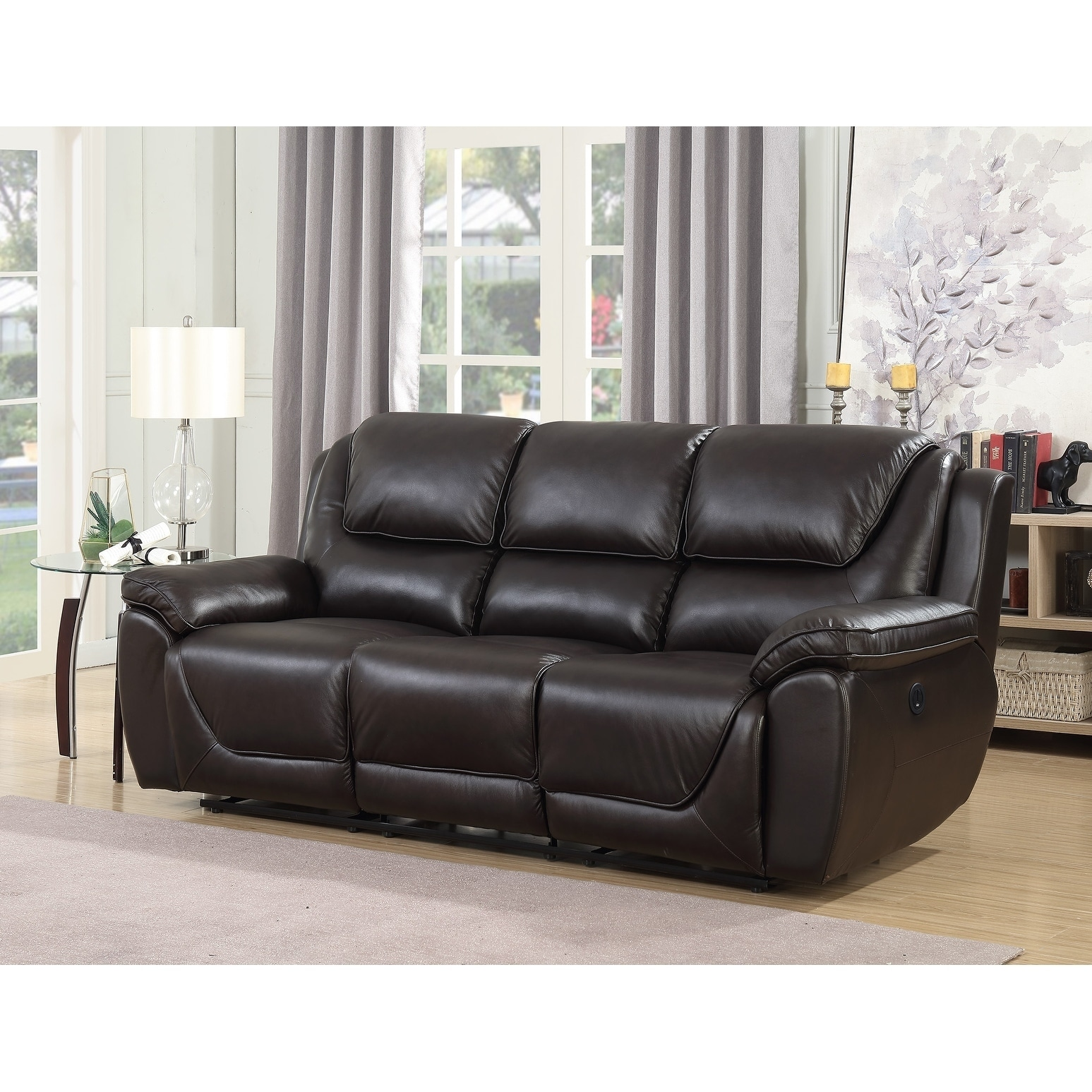 Strange Real Leather Recliner Sofa Home The Honoroak Andrewgaddart Wooden Chair Designs For Living Room Andrewgaddartcom