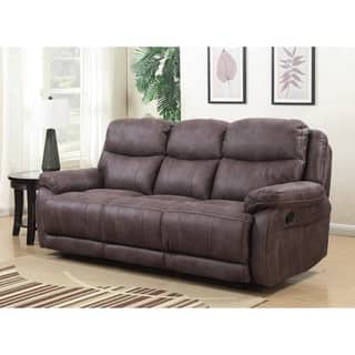 Alexander Dual Lay Flat Reclining Sofa With Memory Foam Seat Topper