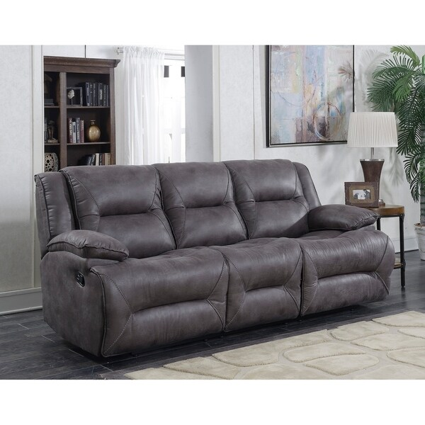Dylan Polyester Lay Flat Reclining Sofa with Memory Foam Seat
