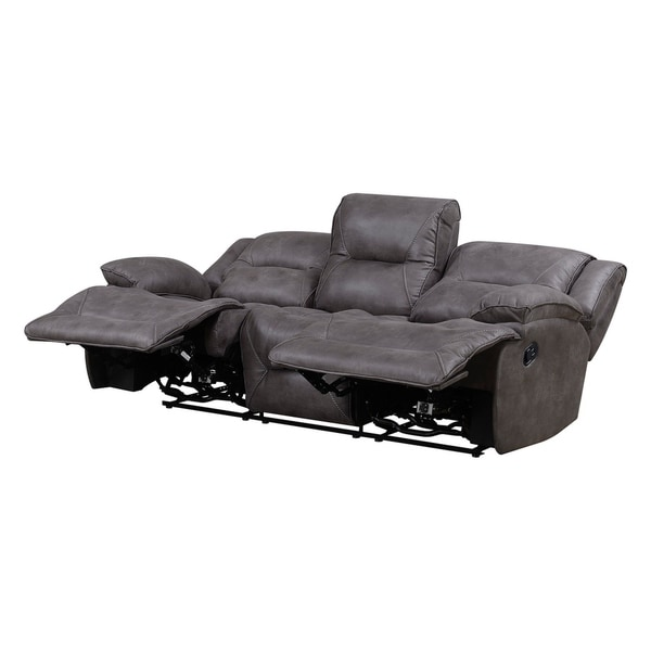 Dylan Polyester Lay Flat Reclining Sofa with Memory Foam Seat Toppers - Free Shipping Today - Overstock.com - 23830049  sc 1 st  Overstock.com & Dylan Polyester Lay Flat Reclining Sofa with Memory Foam Seat ... islam-shia.org