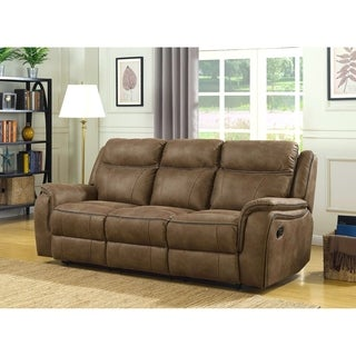 MorriSofa Hudson Dual Lay Flat Reclining Sofa With Memory Foam Seat Toppers