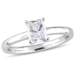 Miadora Signature Collection 14k White Gold 1ct TDW Radiant-Cut Diamond Solitaire Engagement Ring