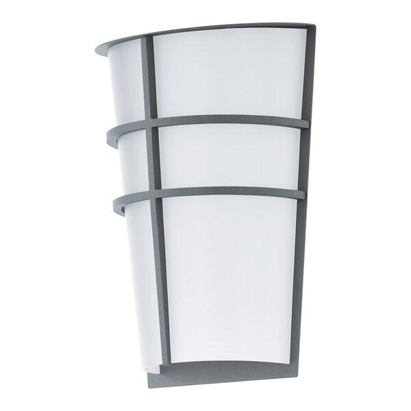 Shop eglo breganzo outdoor wall light with silver finish free eglo breganzo outdoor wall light with silver finish aloadofball Images