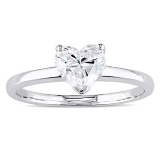 Link to Miadora Signature Collection 14k White Gold 1ct TDW Heart-Cut Diamond Solitaire Engagement Ring Similar Items in Wedding Rings