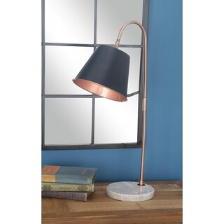 Studio 350 Set of 2, Metal Marble Task Lamp 14 inches wide, 25 inches high