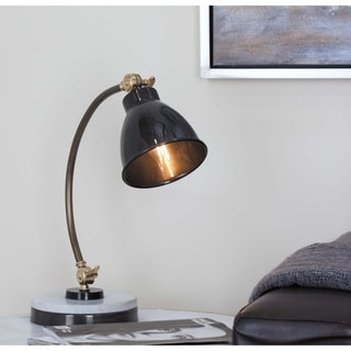 Studio 350 Metal Marble Task Lamp 15 inches wide, 16 inches high