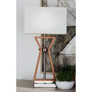 Studio 350 Set of 2, Wood Stainless Steel Task Desk Lamp 32 inches high
