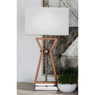 Studio 350 Set of 2, Wood Stainless Steel Task Desk Lamp 32 inches high|https://ak1.ostkcdn.com/images/products/17614062/P23830437.jpg?impolicy=medium