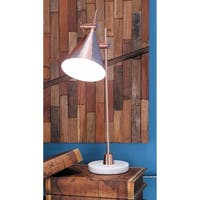 Studio 350 Metal Marble Task Lamp 13 inches wide, 22 inches high