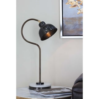 Industrial 22 Inch Black Iron and Marble Task Lamp by Studio 350