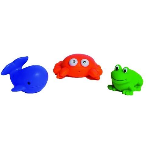 Evideco Squirt Sea Life Animals Baby Multicolored Set of 3