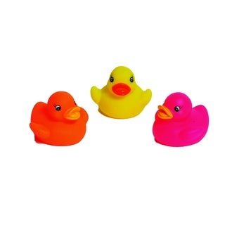 Evideco Squeaky Ducks Baby Bath Toys Multicolored (Set of 3)