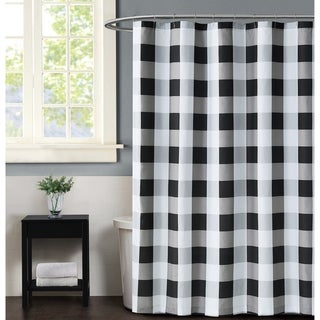 Truly Soft Everyday Buffalo Plaid Printed Shower Curtain