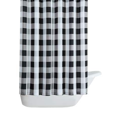 Truly Soft Everyday Buffalo Plaid Printed Shower Curtain
