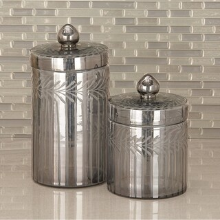 Studio 350 Glass Decor Jar Set of 2, 7 inches, 10 inches high