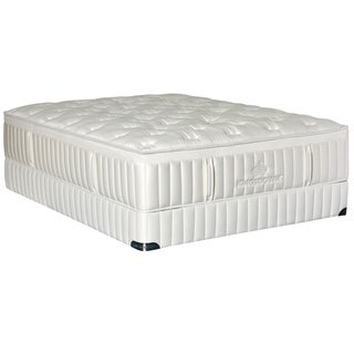 Kingsdown Vintage Melange 15-inch Queen Low Profile Plush Luxury Mattress Set with Low Profile Split Boxes
