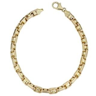 Fremada Men's 14k Yellow Gold 5.7-millimeters 8.5-inches Bullet Link Bracelet
