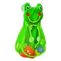 Evideco Bath Tub Toys Organizer FROG HEAD -Suction Cups Green