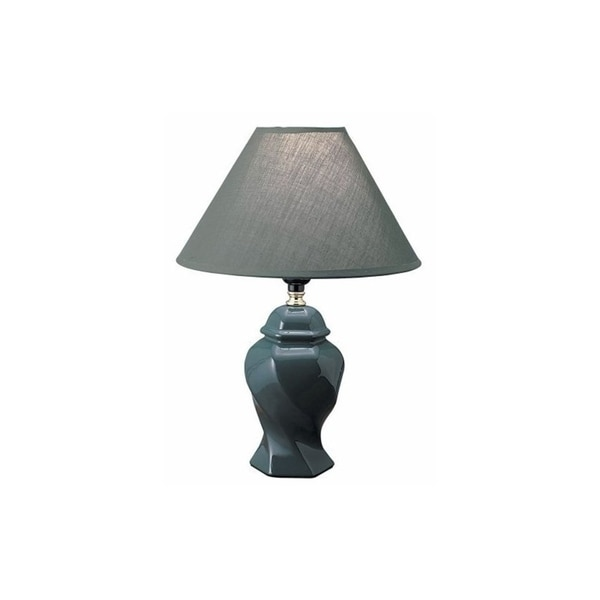 "Q-Max 15"" Table Lamp, Green"