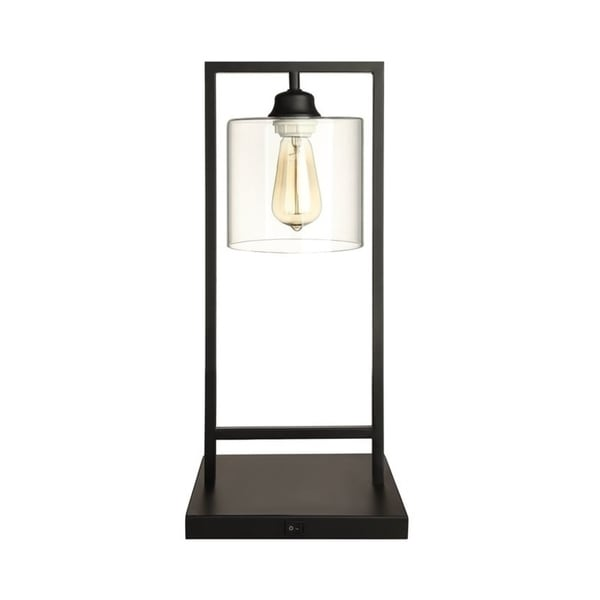 "Q-Max Bell 21"" Table Lamp, Black"