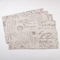 Vintage Script Print Design Placemat - Set of 4