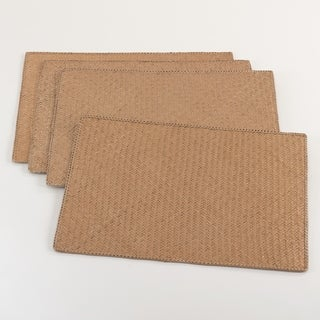 Natural Water Hyacinth Woven Placemat - Set of 4