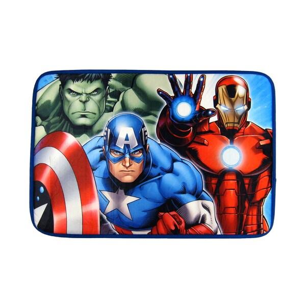 Shop Marvel S Avengers Memory Foam Bath Rug Free