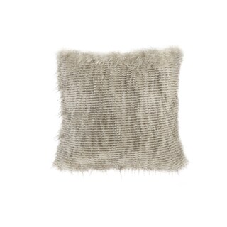 Clay Alder Home Eandco Faux Fur Square Throw Pillow (Option: Natural)