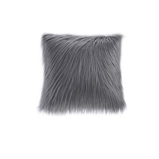 Madison Park Adelaide Premium Luxury Faux Fur Square Throw Pillow (2 options available)