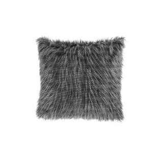 Clay Alder Home Eandco Faux Fur Square Throw Pillow (Option: Black)