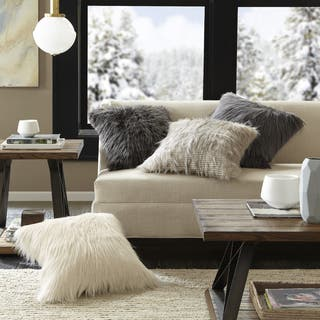 Madison Park Adelaide Premium Luxury Faux Fur Square Throw Pillow|https://ak1.ostkcdn.com/images/products/17615556/P23831723.jpg?impolicy=medium