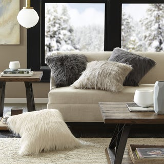 Clay Alder Home Eandco Faux Fur Square Throw Pillow