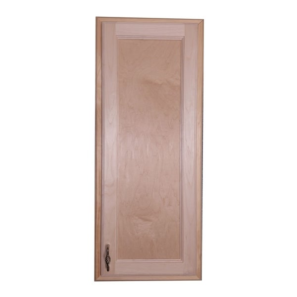 WG Wood Products Christopher Recessed Solid Wood Medicine Cabinet