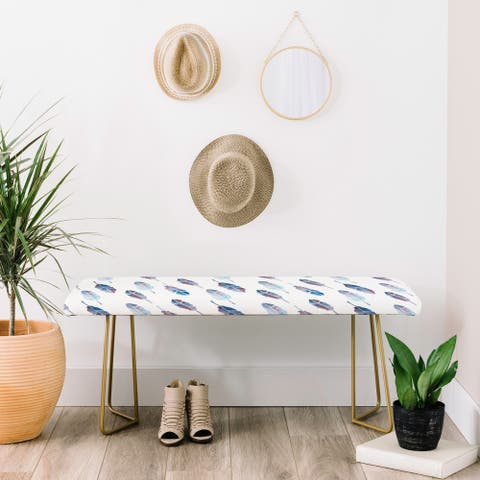 Deny Designs Feather Catcher Bench (2 Leg Options)