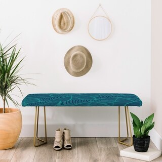 Arcturus Blue Green Leaves Bench