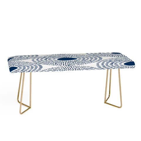 Camilla Foss Circles In Blue II Bench