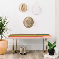 Deny Designs Aazura Stripe Bench (2 leg options)