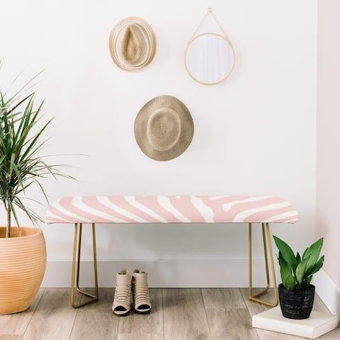 Deny Designs Pink Zebra Stripes Bench (2 Leg Options)