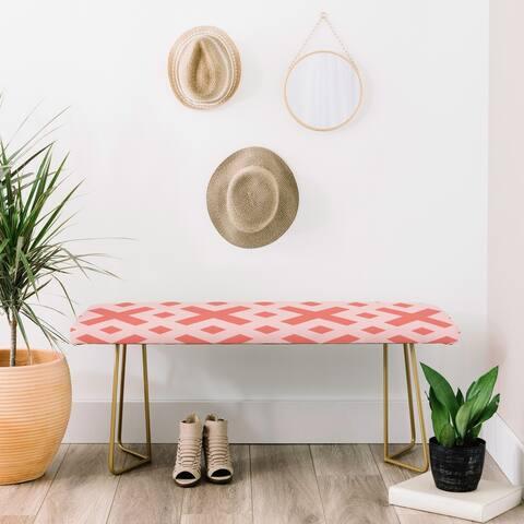 Deny Designs Pink X Bench