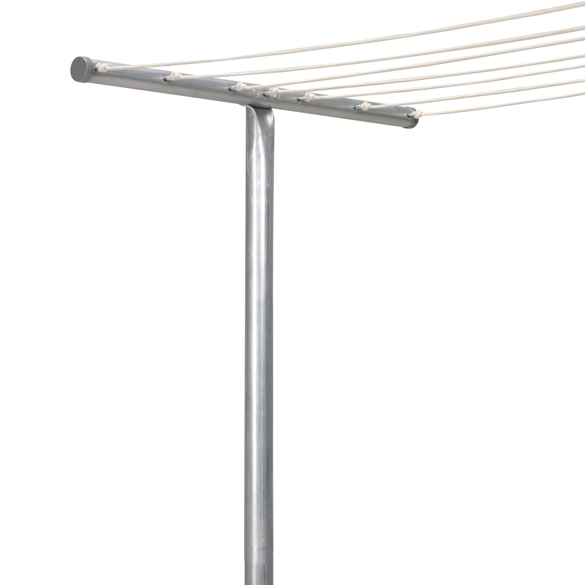 Rust-Resistant Steel Clothesline T-Post with One Piece Co...