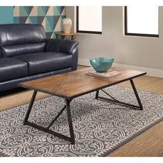Abbyson Carson Industrial Rectangle Coffee Table