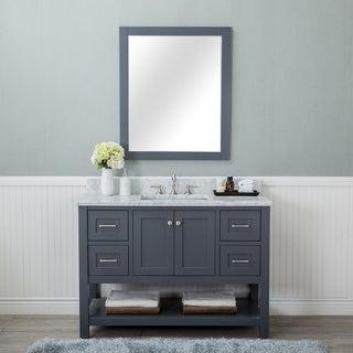 Alya Bath Wilmington Grey Wood 48-inch Single Bathroom Vanity