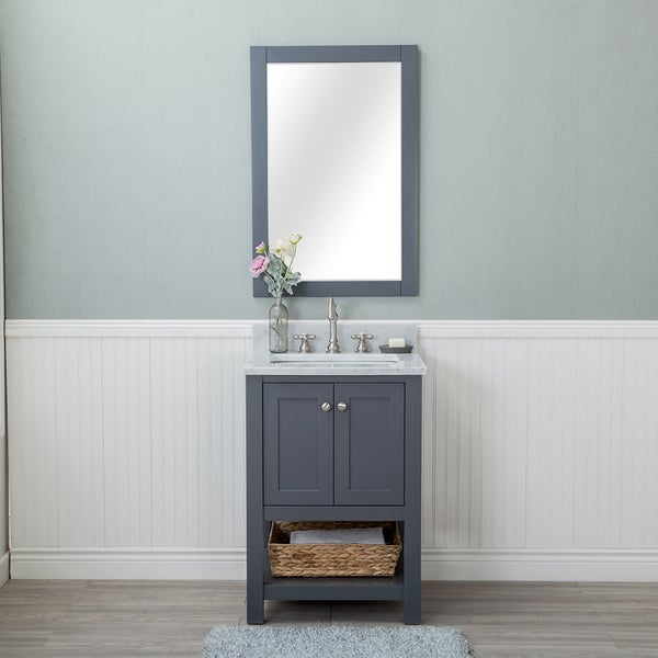 Phenomenal Shop Wilmington Grey 24 Inch Single Bathroom Vanity With Beutiful Home Inspiration Xortanetmahrainfo