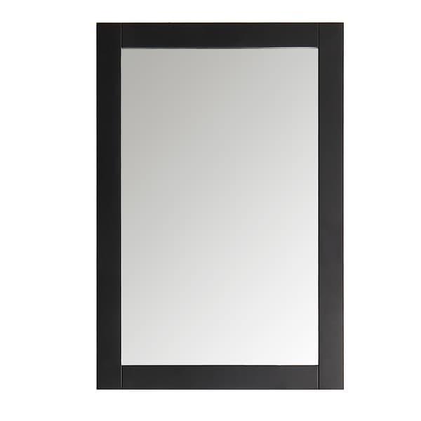 "Fresca Hartford 20"" Black Traditional Bathroom Mirror"
