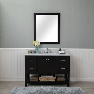 Alya Bath Wilmington Black Wood 48-inch Single Bathroom Vanity