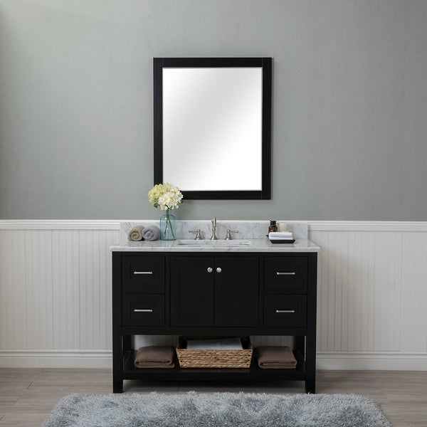 Genial Alya Bath Wilmington Black Wood 48 Inch Single Bathroom Vanity