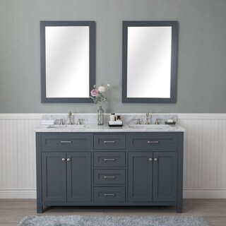 Alya Bath Norwalk 60-inch Double Bathroom Vanity