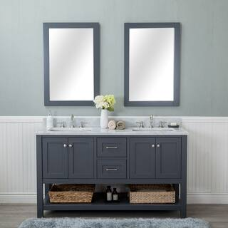 Small Bathroom Vanity With Sink. Alya Bath Wilmington Grey 60 inch Double Bathroom Vanity With Carrara  Marble Top Vanities Cabinets For Less Overstock com